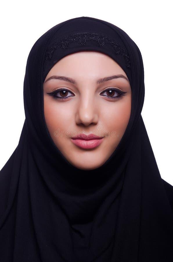 Hijab мусульманской молодой женщины нося стоковое фото rf