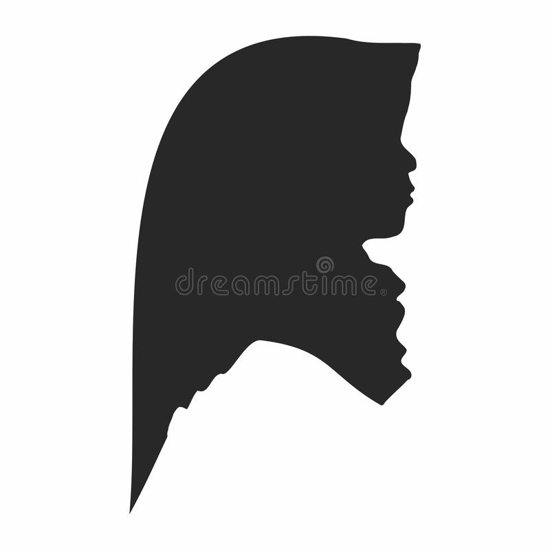 Hijab Girl Silhouette High Quality royalty free stock images