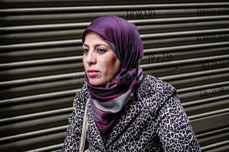 hijab kobieta muzułmańska target2790_0_ zdjęcia stock