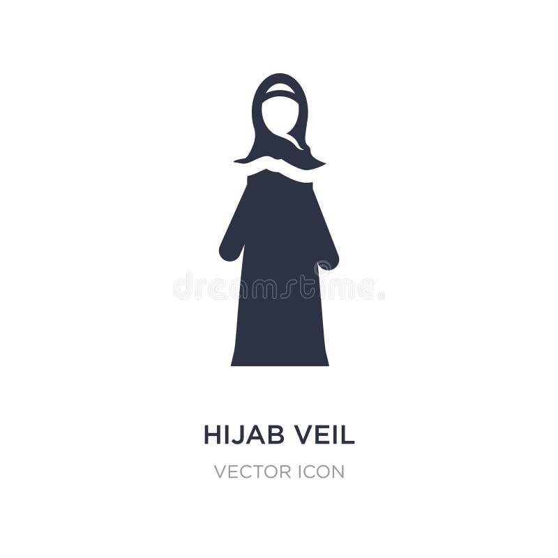 hijab Schleierikone auf weißem Hintergrund Einfache Elementillustration vom Religionskonzept vektor abbildung