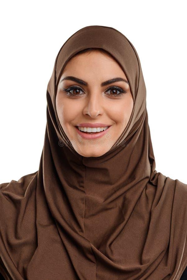 Hijab vestindo da mulher asiática fotos de stock royalty free