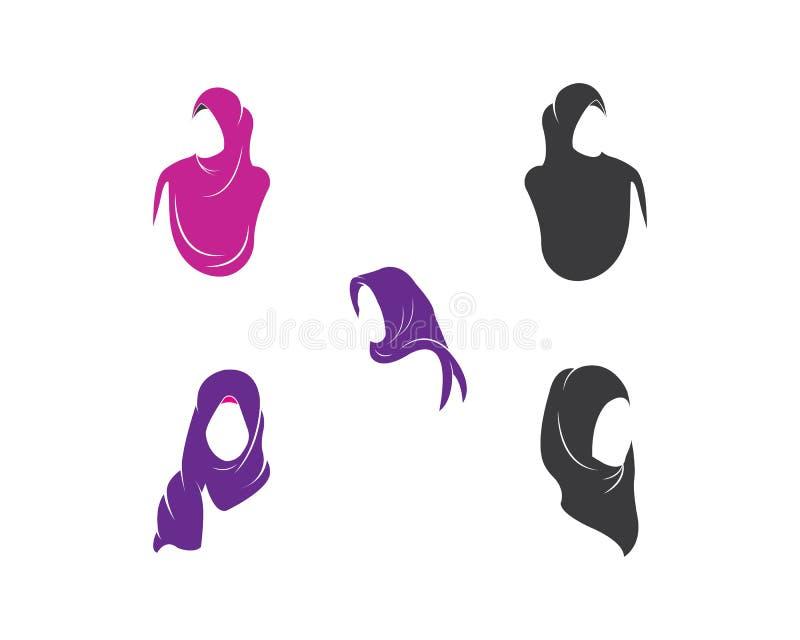 hijablogovektor, kultur av muslim mode för kvinna stock illustrationer