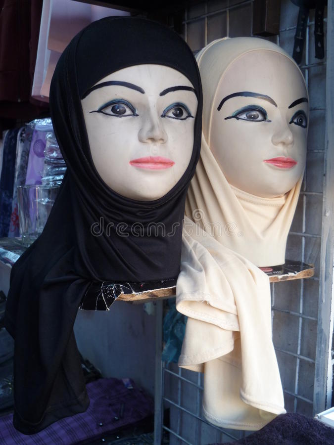 Download Hijabs for sale in Jordan stock photo. Image of display - 20059140