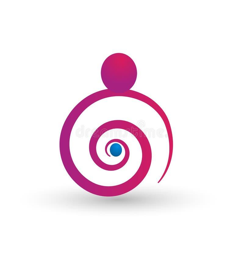 Hijo del bebé de la mujer embarazada, símbolo estilizado del vector libre illustration