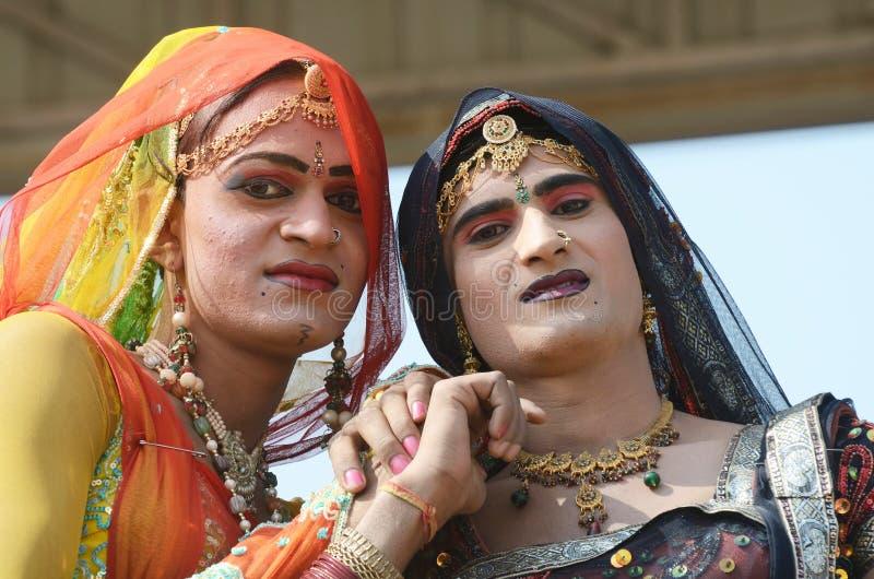 Hijras (transvestit) - heligt folk som är så kallad  royaltyfria foton