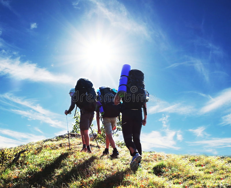 Download Hike stock image. Image of tourist, trekking, mountaineering - 5850131
