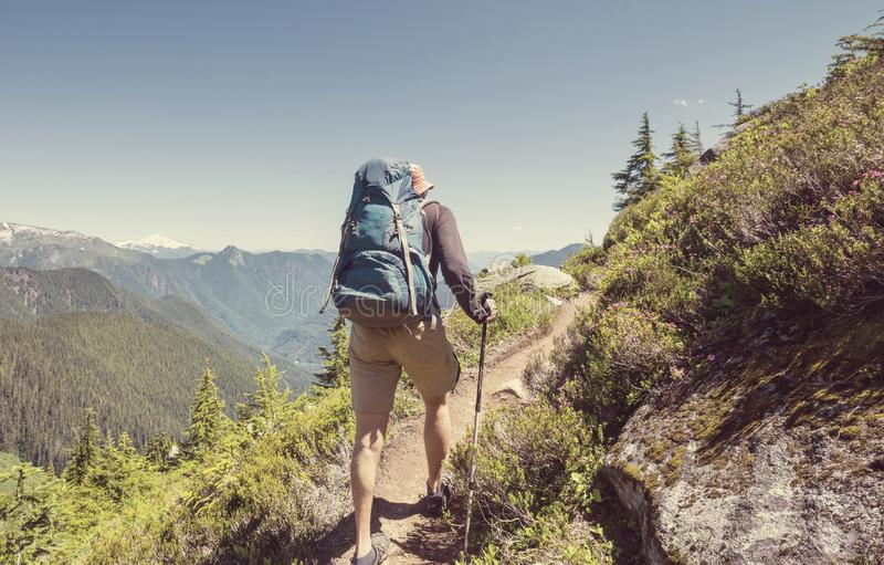 In hike stock photography