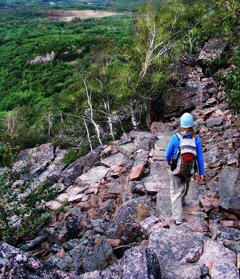 hike da escadaria da rocha fotos de stock