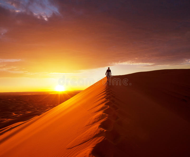 Download Hike In Desert Stock Image - Image: 23177201