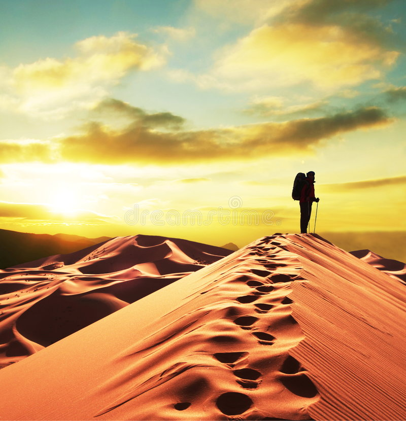 Download Hike In Desert Stock Photography - Image: 5745582