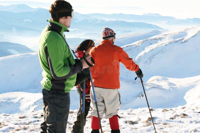 Hike do inverno fotos de stock