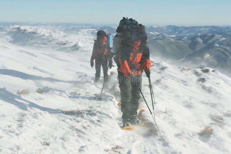 Hike do inverno fotos de stock royalty free