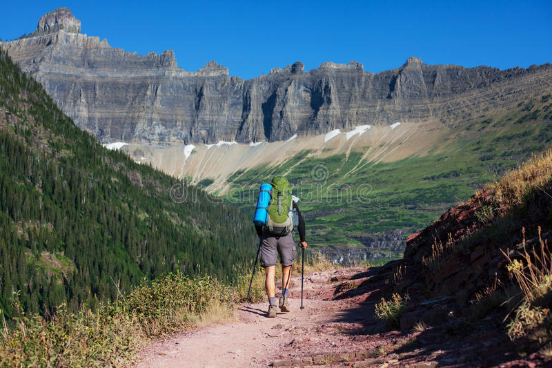 Download Hike in Glacier Park stock image. Image of exercise, escape - 26795081