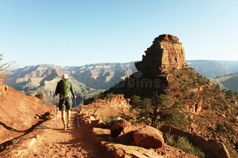 Hike in the Grand Canyon. USA royalty free stock photos