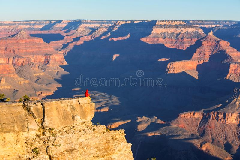 Hike in Grand Canyon. National Park royalty free stock photography