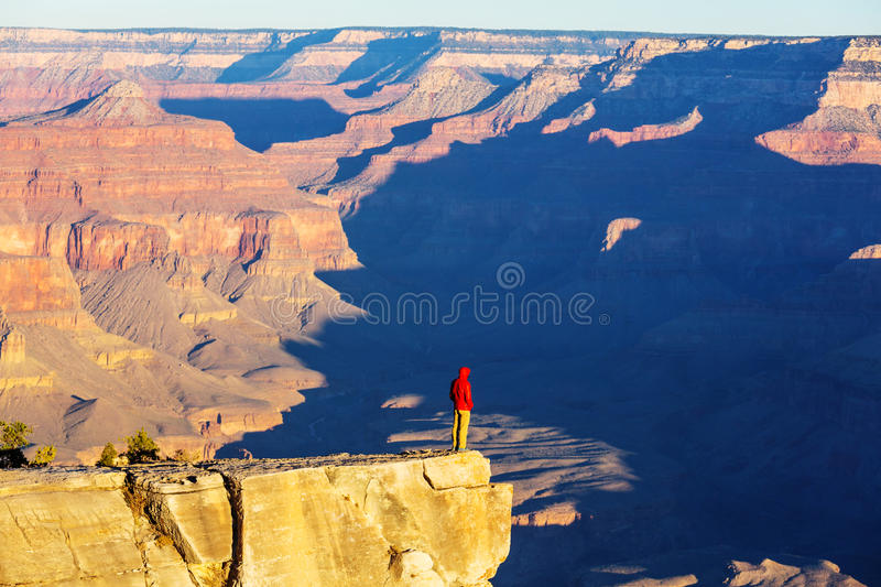 Hike in Grand Canyon. National Park royalty free stock image