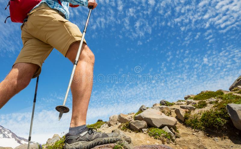 Hike in mountains royalty free stock image
