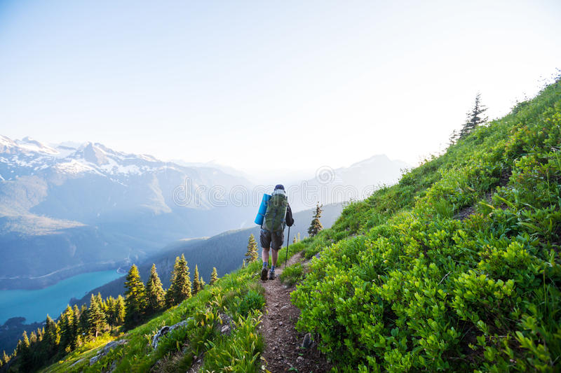 Hike in North Cascades royalty free stock photos