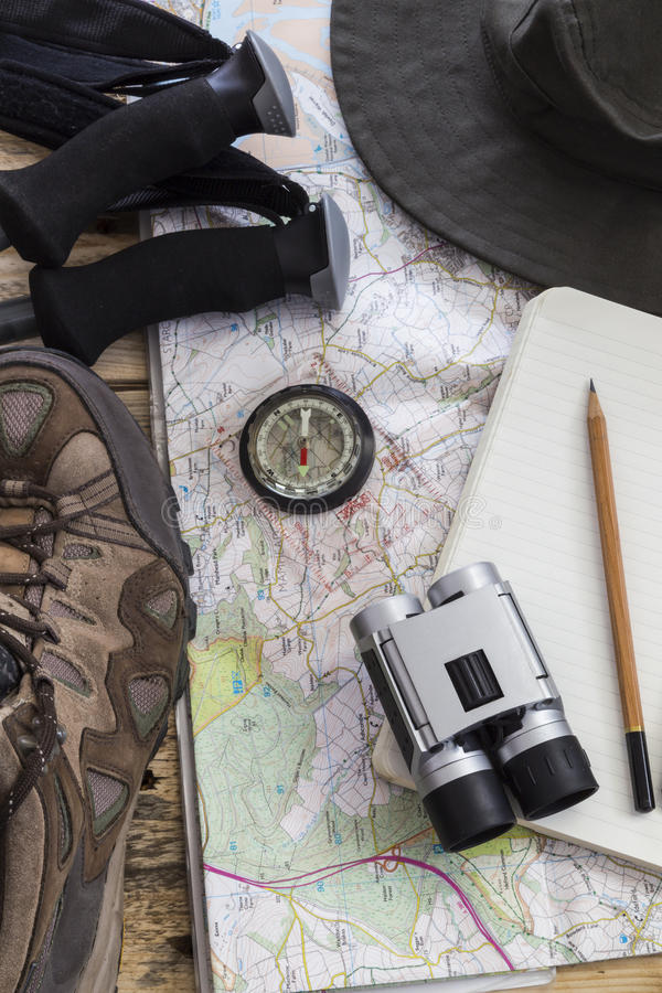 Hike Planning royalty free stock photos