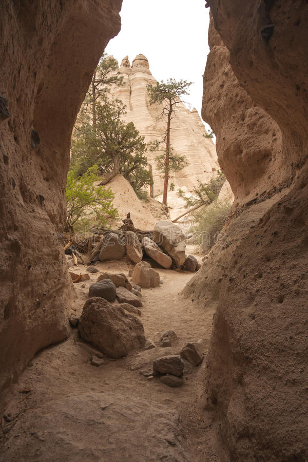 Download Hike Through Tent Rocks National Monument Stock Image - Image of heat, sandstone: 25877317