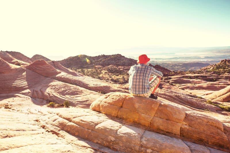 Hike in Utah stock foto
