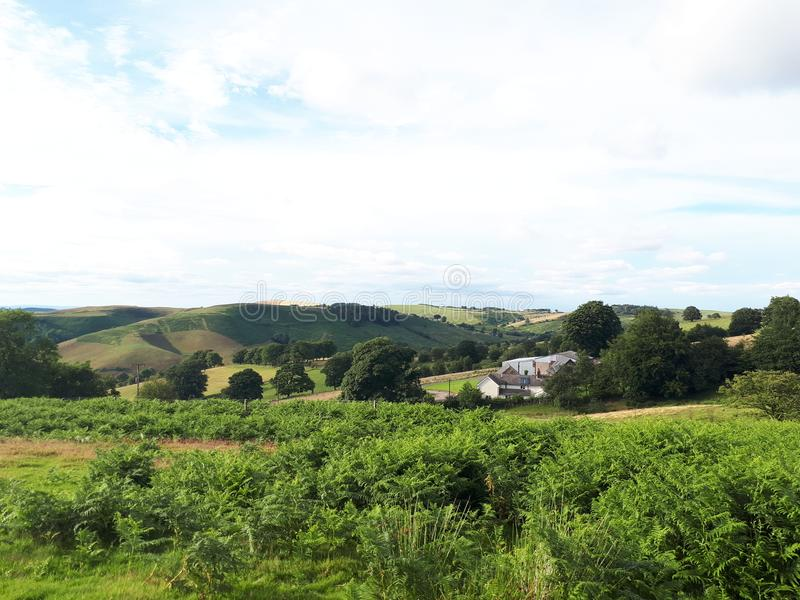 Hikeing στους λόφους στο Shropshire στοκ φωτογραφία