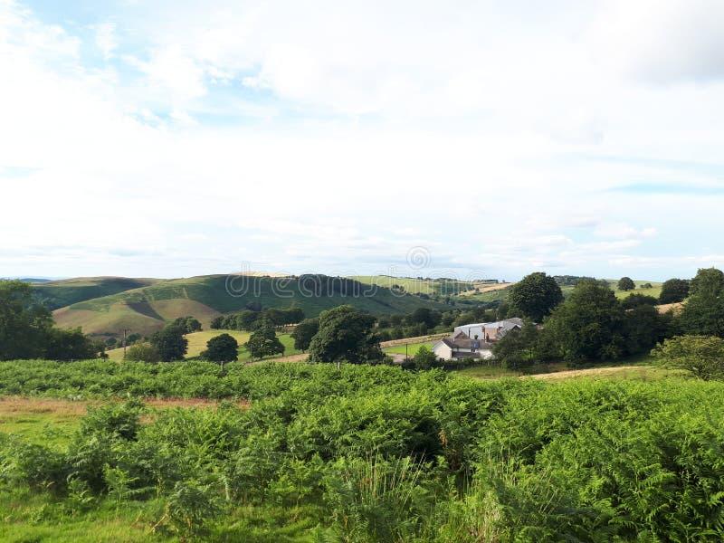 Hikeing através dos montes em Shropshire fotografia de stock