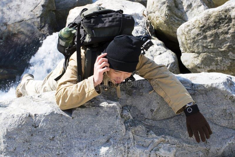hiker помощи стоковое изображение rf
