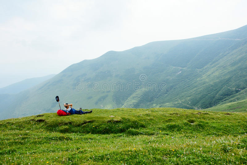 Download Hiker stock photo. Image of china, nature, rest, afoot - 12438614