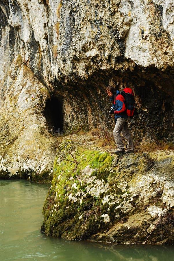 Download Hiker stock image. Image of hiker, rock, trekking, hiking - 17968457