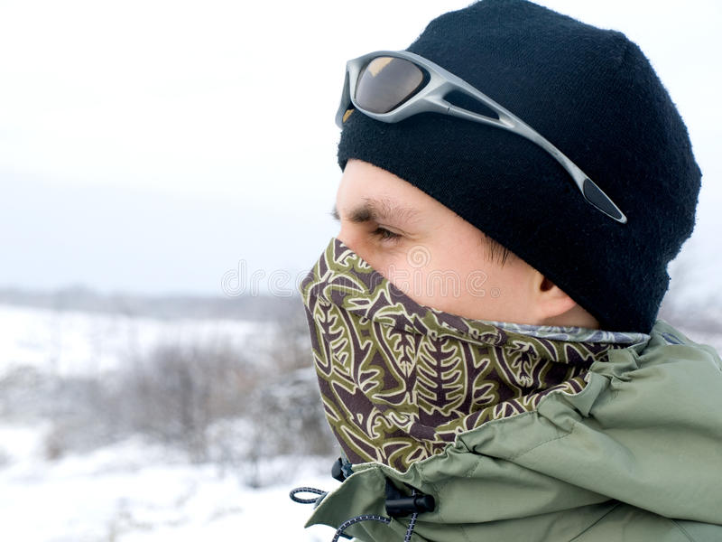 Download Hiker stock image. Image of adventure, mask, winter, face - 18962547