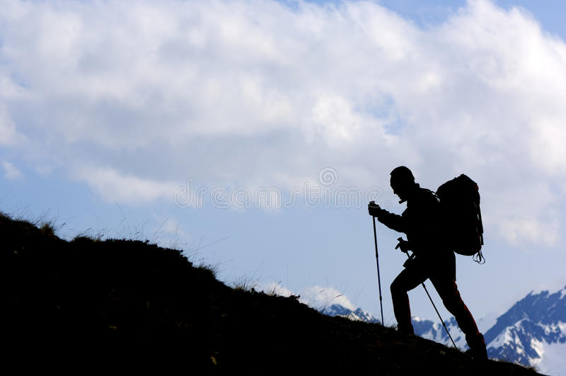 Download Hiker stock image. Image of active, lonely, cloud, cliff - 24883947