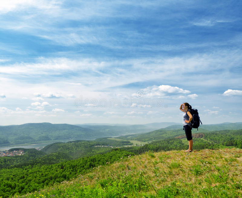 Download Hiker stock image. Image of alone, female, hike, extreme - 25301157