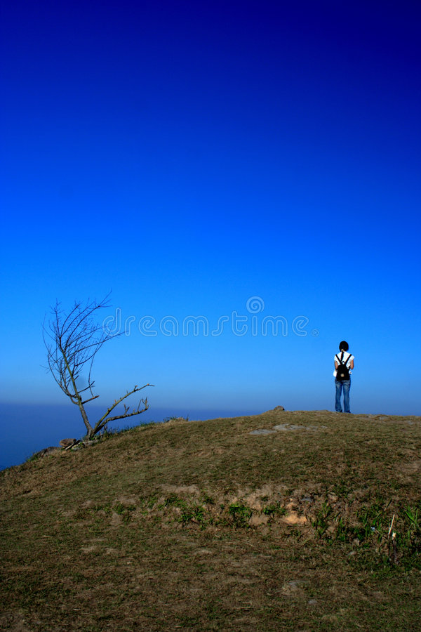 Download Hiker stock photo. Image of travel, standing, hiking, loneliness - 2693806