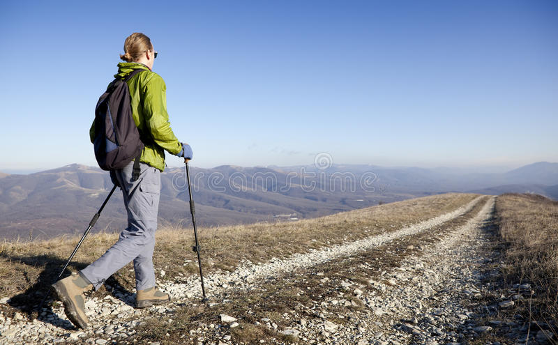 Hiker. stock images