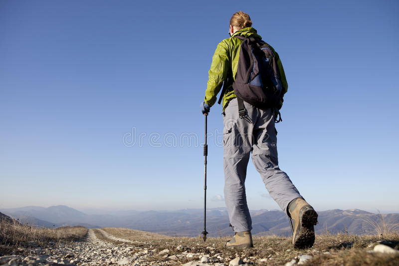 Download Hiker. stock photo. Image of mountain, nature, scenics - 28697116