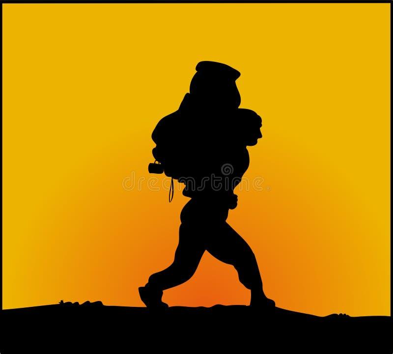 hiker illustrazione di stock