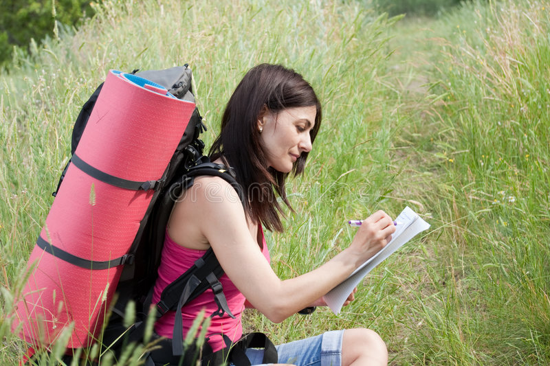 Download Hiker stock photo. Image of recreation, backpacking, green - 8760894
