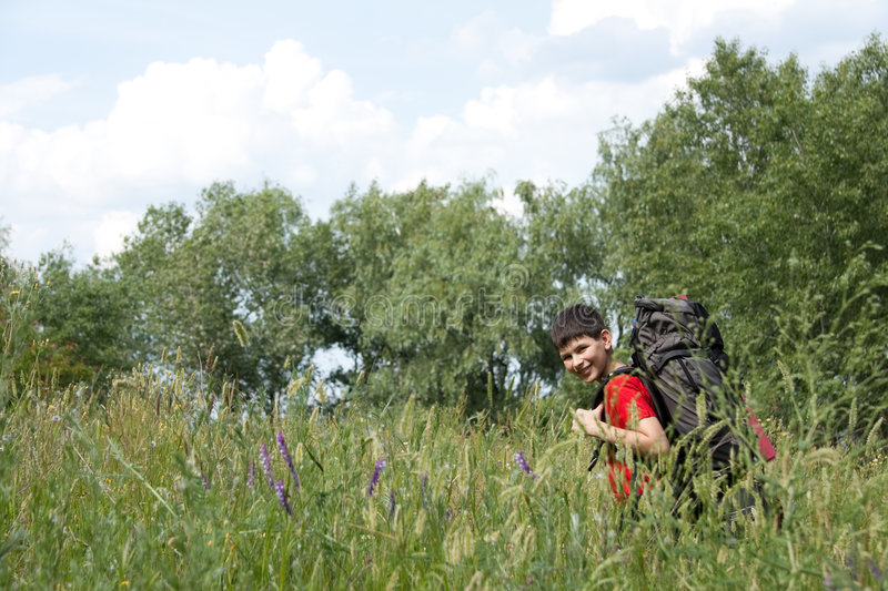 Download Hiker stock image. Image of spring, lifestyle, sunlight - 9234863