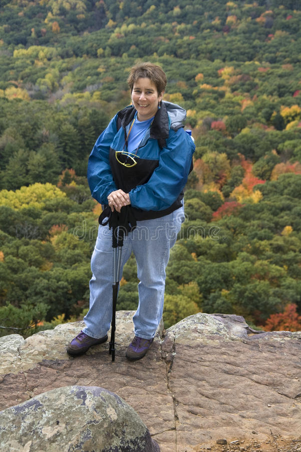 Hiker Acension stock photo