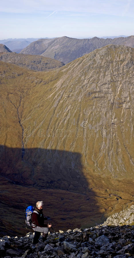 Download Hiker On Buachaille Etive Mor Stock Photo - Image: 19569306