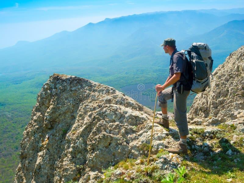 Download Hiker enjoys landscape stock photo. Image of outdoor - 35482296