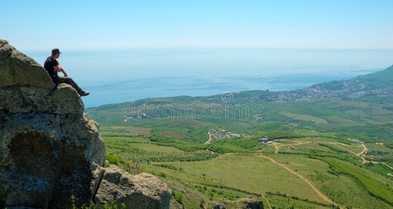 Download Hiker enjoys landscape stock image. Image of enjoying - 35846255