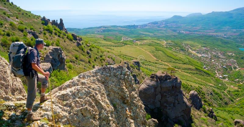 Download Hiker Enjoys Landscape Royalty Free Stock Images - Image: 35846259