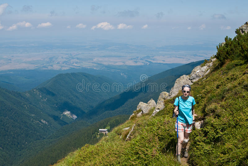 Download Hiker Girl In The Mountains Stock Photo - Image: 15747306