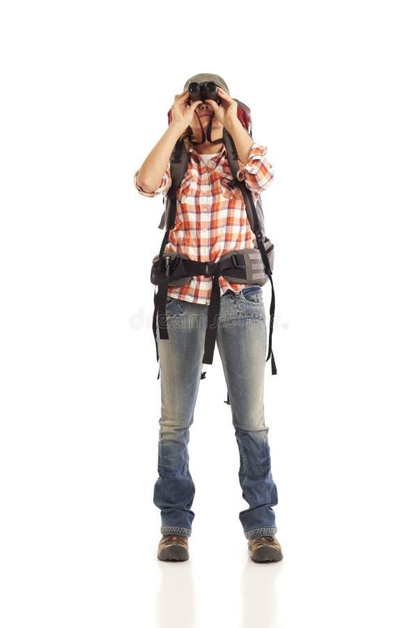 Download Hiker Looking Through Binoculars Stock Image - Image: 16897823