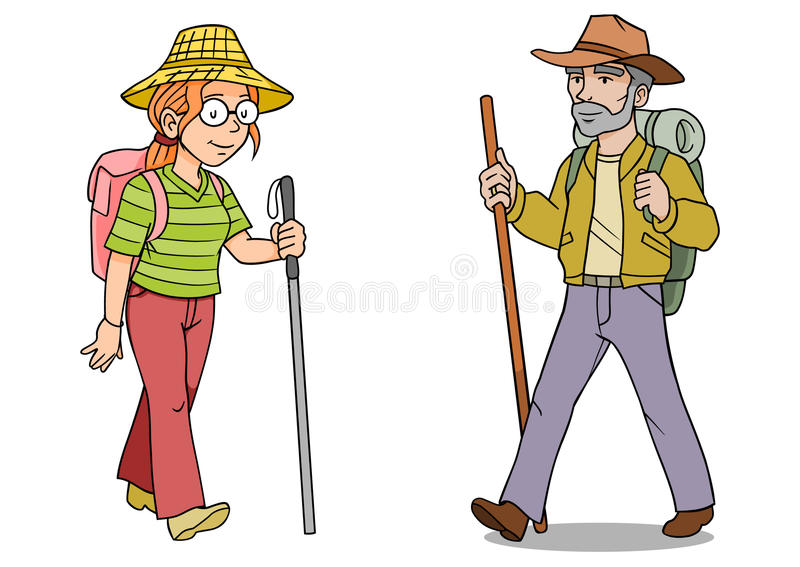 Hiker Man Woman