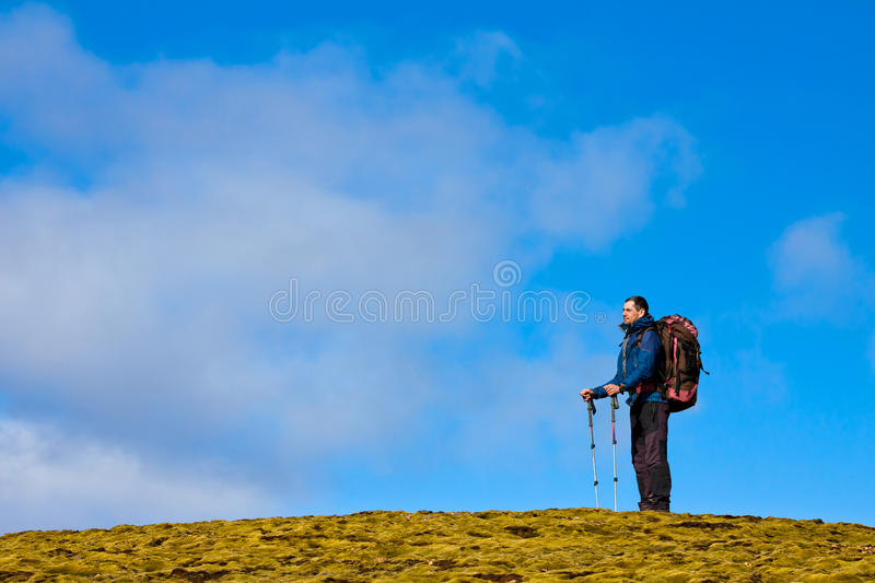 Download Hiker in the mountains stock image. Image of iceland - 21460155