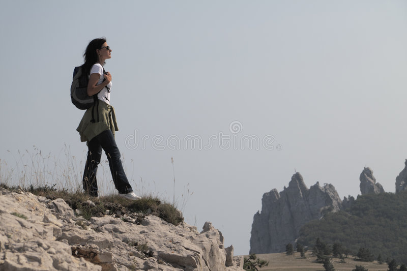 Download Hiker in the mountains stock photo. Image of footpath - 6093656