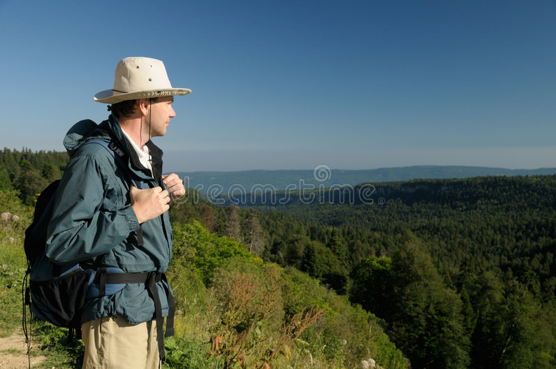 Download Hiker in mountains stock image. Image of people, park - 6615307